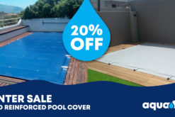 20% off solid reinforced pool covers from Aquaflex Cape Town
